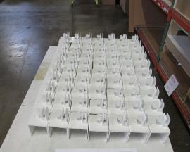 Safety MOD-8000 and 8001 Cubicle Height Extender Brackets (white powder-coated finish)