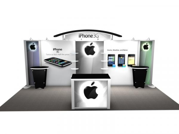 RE-2009 Rental Exhibit / 10� x 20� Inline Trade Show Display � Image 1